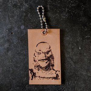 Creature From The Black Lagoon Leather Keychain